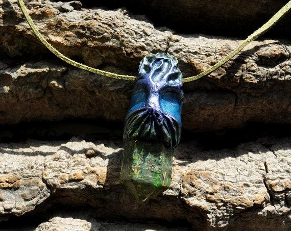 Tree of Life Orgonite® Crystal pendant Necklace, Clay Gemstone, Unisex