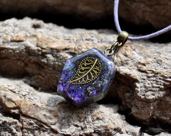 LEAF Orgonite® Orgone Pendant  Necklace