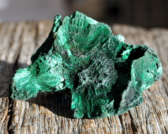 Velvet Malachite Cluster from Congo Mineral Natural, 52 gram