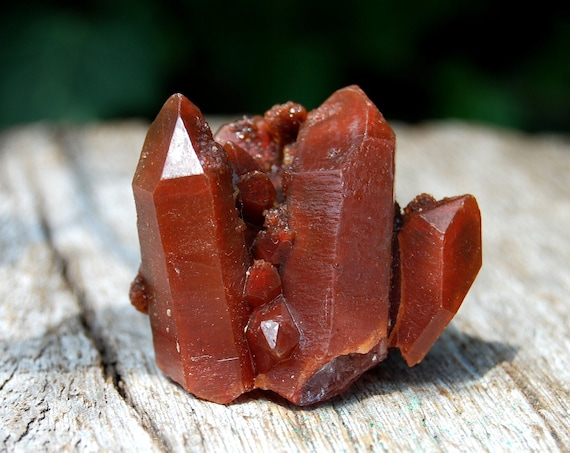 Ferruginous Red Quartz Crystal Cluster, Natural Terminated, Untreated, AA Quality