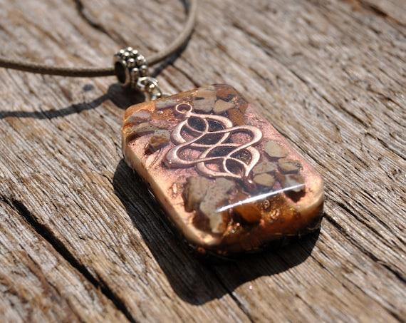 Picture Jasper Orgonite® Pendant Necklace