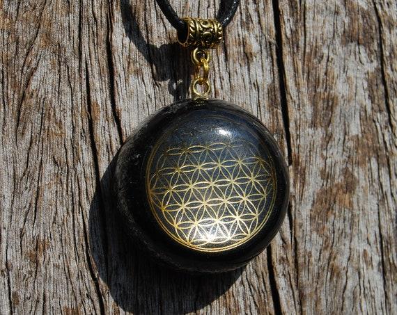 Flower of Life Orgonite® orgone Pendant Necklace Unisex