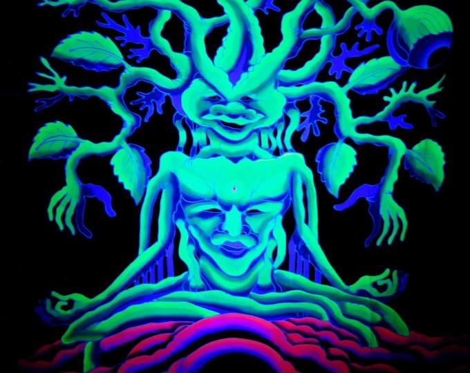 BATIK UV Wall Hanging Meditation Tree