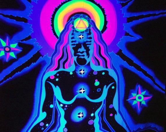 Handpainted UV Chakra Meditation