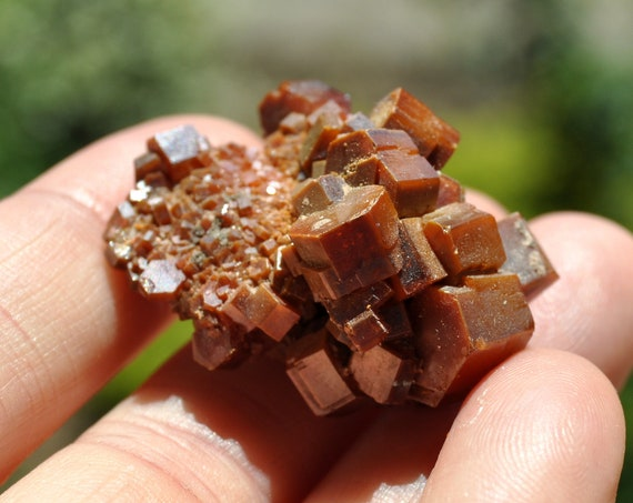 Lovely Vanidinite Cluster,  Raw Crystal Specimen, Natural and Untreated, 32 grams, Creativity, Energy Booster