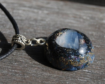 Blue Calcite Orgonite® Small Pendant