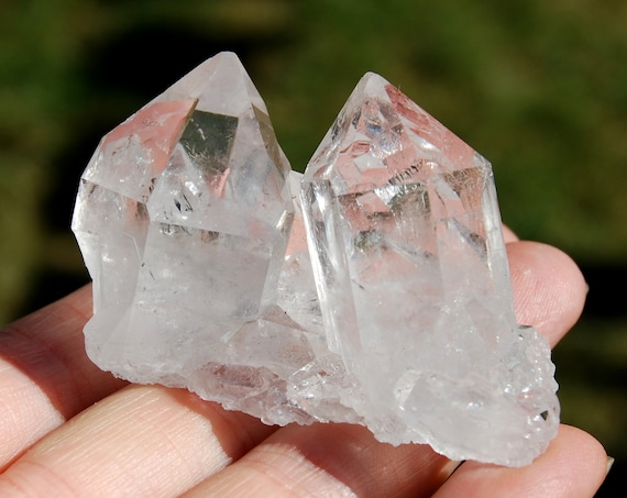 Clear Crystal Cluster from Minas Gerais, Natural Terminated, Small, 53 grams