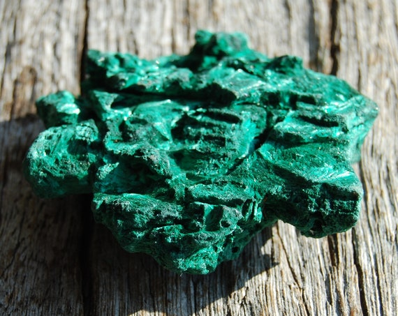 Fibrous Silky Malachite Cluster from Congo Mineral Natural Crystal - 74 grams
