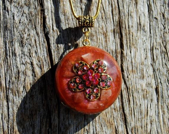 Sunstone Orgonite® Orgone Necklace Pendant Necklace