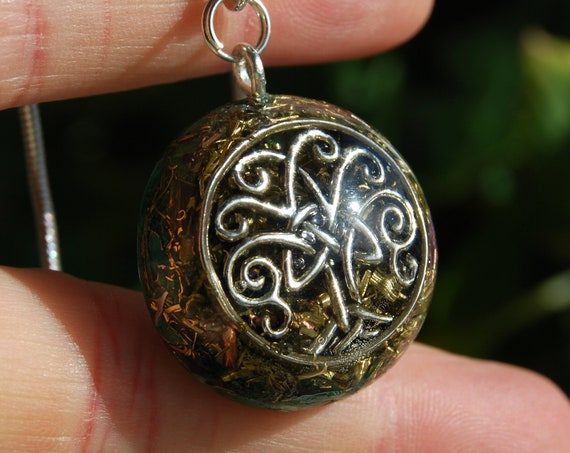 Unique Tree of Life Orgone Orgonite® Pendant Small - Hanger Ketting Necklace, Unisex Jewellery - Clear Quartz