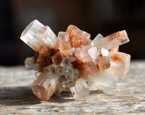 Bi Color Aragonite Crystal Cluster, Sputnik Crystal, 24 grams