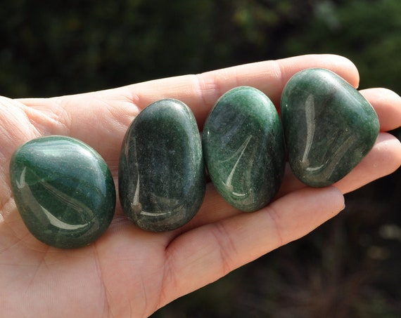 FOUR Green Aventurine LOT of Polished Stones, Whole set, 122 grams - 4.30 ounces -  FREE Shipping !