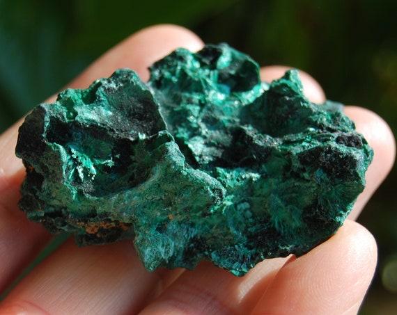 Raw fibrous Malachite Cluster  - 43 grams