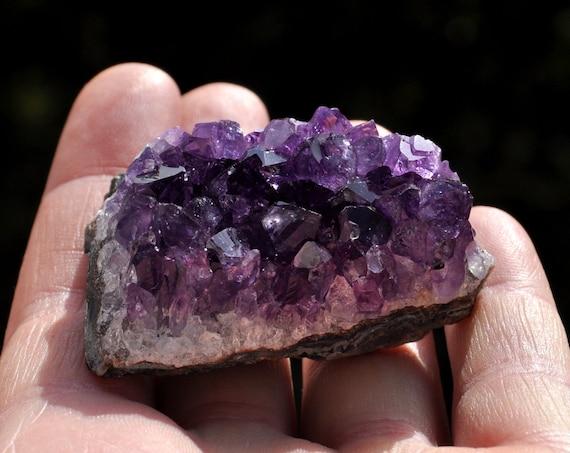 Uruguay Amethyst Crystal Cluster 52 grams - 1.8 Oz  FREE Shipping !