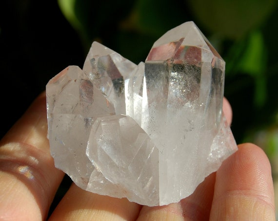 Clear Crystal Cluster from Minas Gerais, natural terminated raw rough - 48 grams