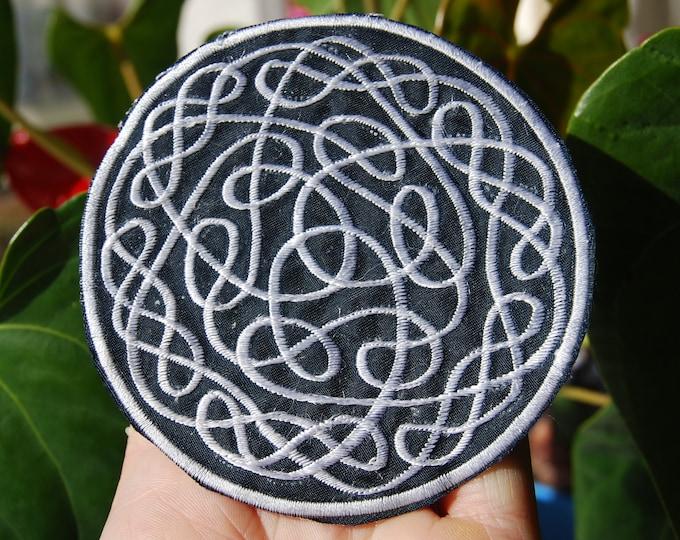 Celtic knot Triquetra Patch Applique Embroidery