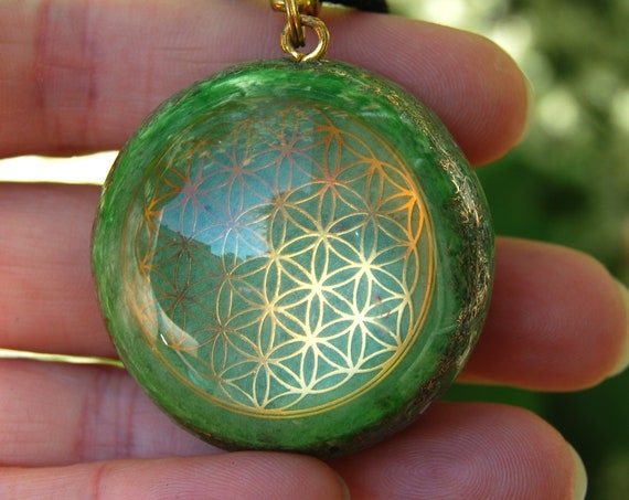 Orgonite® Orgone pendant Flower of Life Custom Personalized