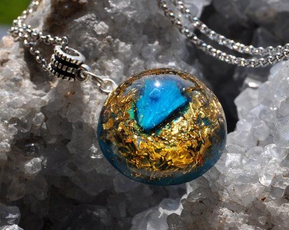 Rare Cavansite Star Orgonite® Pendant Necklace Unisex
