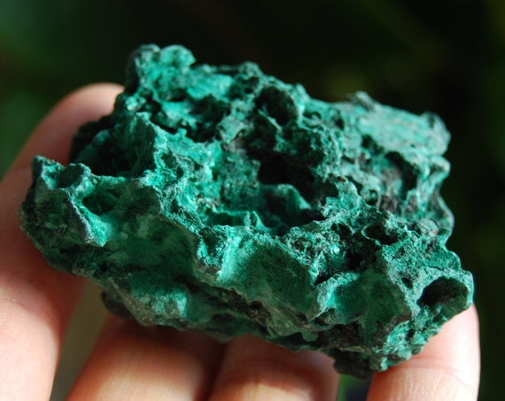 Raw Malachite Cluster from Congo Mineral Natural - 59 grams