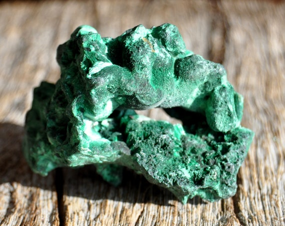 Botryoidal Malachite Fibrous Silky Malachite Cluster from Congo Mineral Natural Crystal - 86 grams