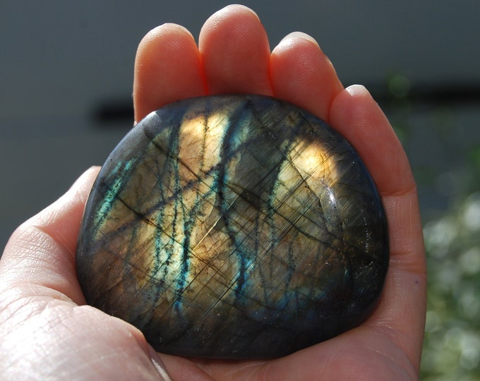 Labradorite stone Flashy Large Madagascar Polished