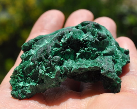 Raw Malachite, Silky Silk Mineral Natural - 46 grams