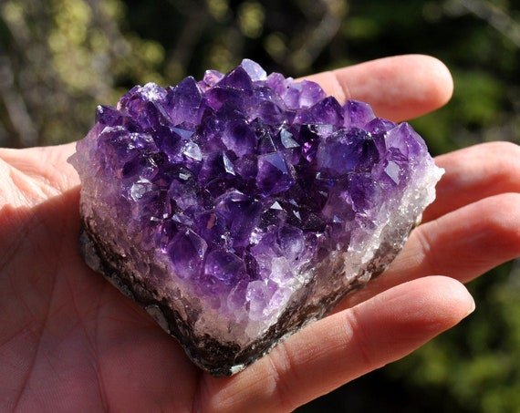 216 Gram Amethyst Cluster Uruguay - Natural untreated crystal