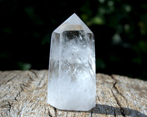 Clear Quartz Point 78 grams, Polished Crystal Quartz