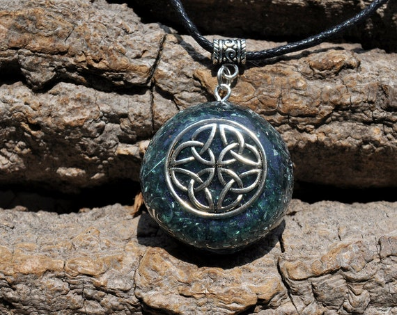 Celtic Knot Orgonite® Infinity Orgone Necklace with Lost Cubit Coil