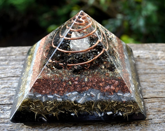 LARGE Orgonite® Pyramid EMF Protection Elite Shungite 689 grams, 24.3 Oz LARGE