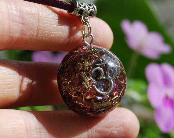 AUM Orgonite® Pendant with Lepidolite pieces