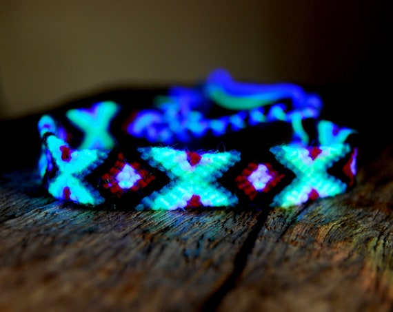 UV Woven Bracelet Cotton Wool, Unisex