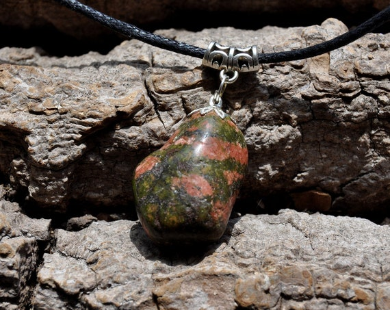 Polishd Unakite Necklace Pendant, Unisex - FREE Shipping !