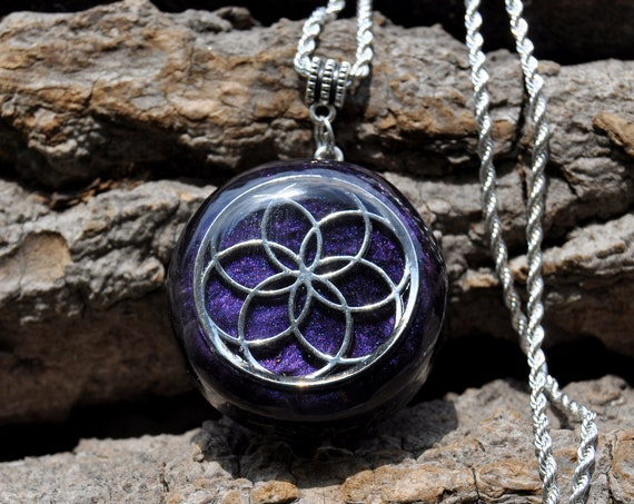 Seed of Life Orgonite® Pendant Necklace, Free Delivery