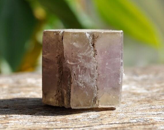 Purple Aragonite Hexagonal Cluster Crystal, Bi-Color 25 grams