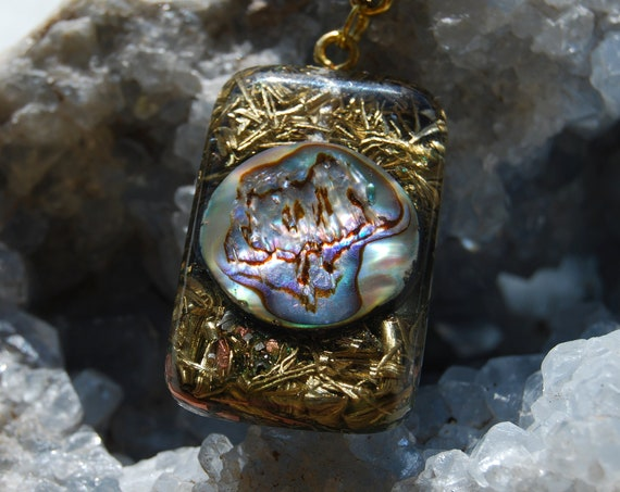 Abalone Shell Orgonite® orgone Pendant  - FREE Shipping !