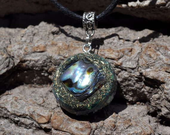 Abalone Orgonite® necklace, Unisex