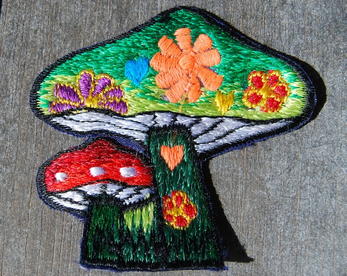 Patch Mushrooms Sew on Applique
