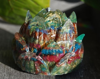 Orgonite® Lotus Flower Orgone Generator® with 24K gold