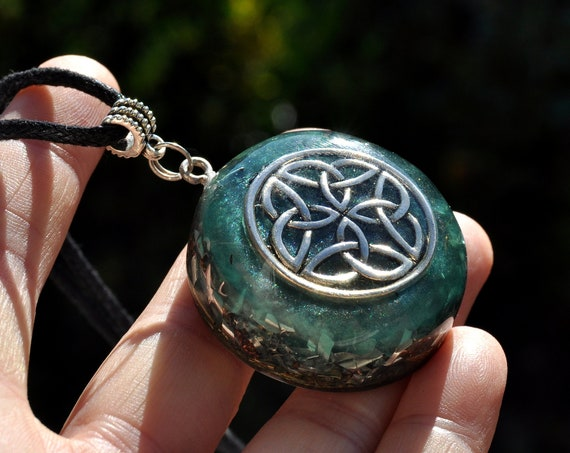 Celtic Knot Orgonite® Infinity Orgone Necklace