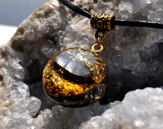 Real Orgonite® with Elite Shungite and 24k Gold Pendant Necklace, Unisex