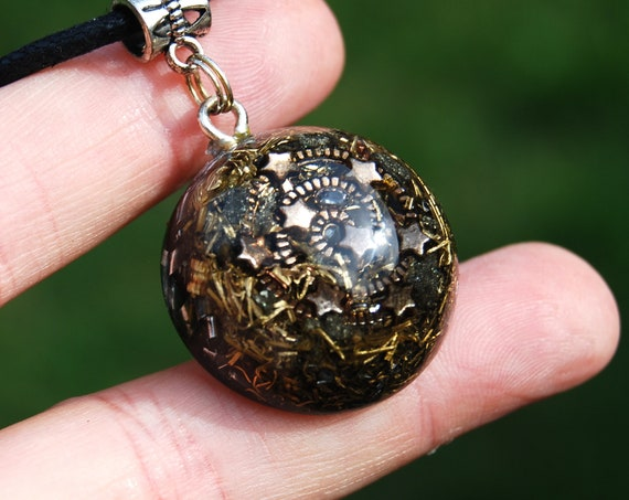 Spiral Galaxy Orgonite®  Pendant Necklace, Small Unisex