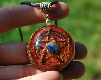 Lapis Lazuli Orgonite® Orgone Pendant Pentagram
