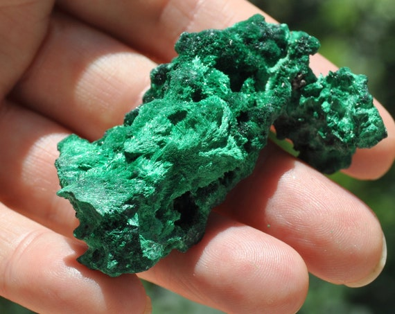 Silky Malachite Cluster - 37 grams
