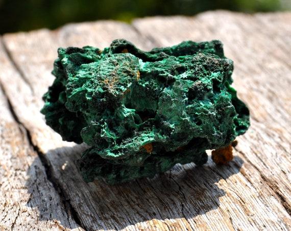 Raw Malachite, Silky Silk Mineral Natural - 38 grams