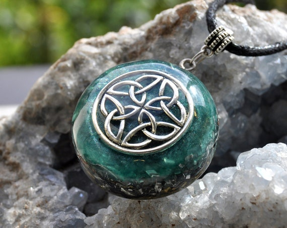 Infinity Orgonite® Celtic Knot Orgone Necklace Unisex, EMF Protection
