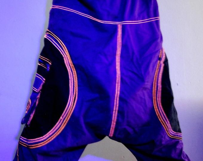 UNISEX Comfy Psy Pants Alibaba Harem Trousers UV reactive