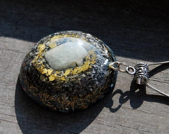 Aquamarine Orgonite® Large Orgone Necklace