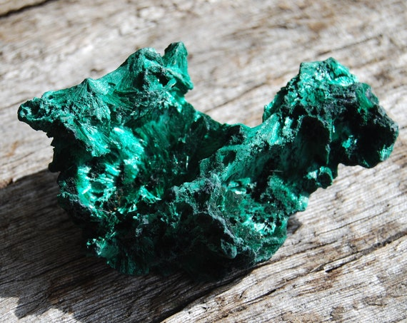 Fibrous Velvet Malachite Cluster from Congo Mineral Natural - 55 grams