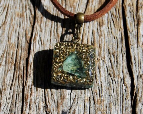 Fluorite Orgonite® orgone Pendant Necklace, Small